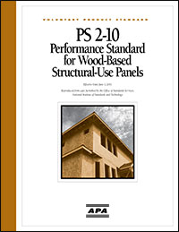 PS2-10 Performance Standard for Wood-Based Structural-Use Panels
