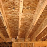 OSB floor decking supported on I-Joists