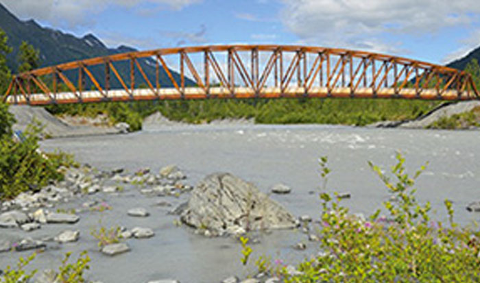 Natural Beauty of Placer River Trail Bridge